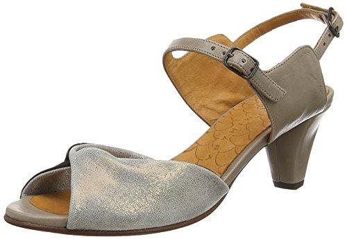 Chie Miharawira - Sandali a Punta Aperta Donna , Grigio (Grau (cyprus bronce jean gris taichi stone)), 39