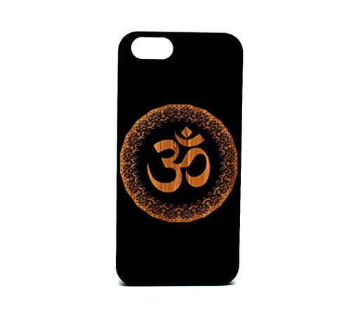 Krezy Fall Echtholz iPhone 6/6S Plus Fall, OM Symbol Laser Gravur Schwarz Holz iPhone 6/6S Plus Fall, Holz iPhone 6/6S Pluscase, schwarz Holz iPhone - Iphone Sprint Phones Cell 6 Plus