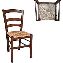 Sedie In Legno Per Ristorante Usate.Amazon It Sedie Impagliate