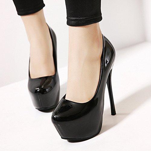 Impermeabile scarpe con i tacchi alti con una singola calzatura discoteche sexy casual black