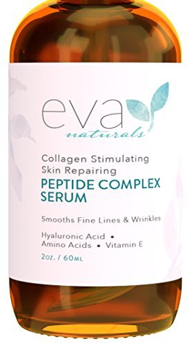 Eva Naturals Peptide Complex Serum for Skin, Anti-Aging, Collagen Booster, Face and Neck Cream (2oz)