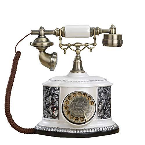 ndenes Retro-Telefon im europäischen Heimstil, Wählscheibe, 30 Anrufer-ID-Datensätze, klarer und Stabiler Anruf für die Platzierung im Heimbüro ()