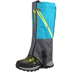 Agua Densidad High Leg Polainas Botas Polainas Legging nieve para exterior de pesca, Investigación, caza, recorta Hierba, azul celeste