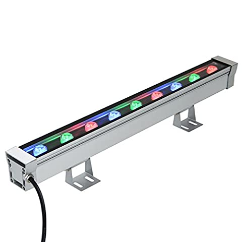 RSN LED 9W LED Wall Washer Light RGB Color Changing Linear Flood Spot Lighting Bar Architectural Outdoor Lighting IP65 AC85-265V 30 Degree