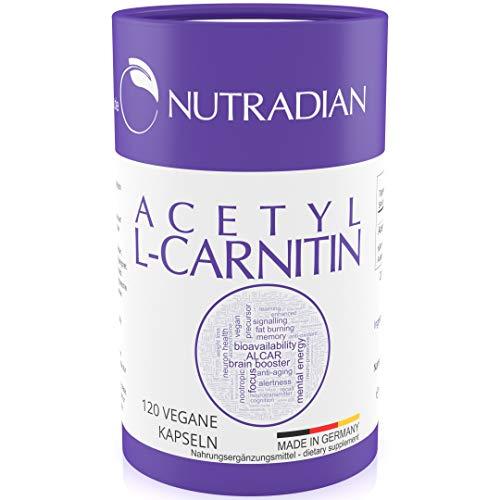 Acetyl L-Carnitin   600 mg pro Dosis   120 Kapseln vegan   ökologische plastikfreie Verpackung   unterstützt ketogene Diät   hergestellt in Deutschland   ohne Zusatzstoffe   Umweltfreundliche