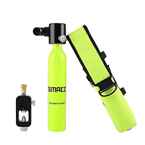 Sauerstoffflasche zum atmenzum Schnorcheln, Freitauchen und Tauchen Tauchausrüstung Mini Scuba Diving Cylinder Scuba Sauerstofftank und maßgeschneiderte Tasche sauerstoffflasche zum atmenzum Schnorche -