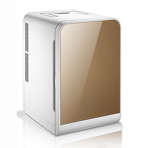 LVZAIXI 20L Kühlschrank Mini Kühlschrank Auto Kühlschrank Dual-use-Automatik (Farbe : Braun) (Netzwerke Brown Box)