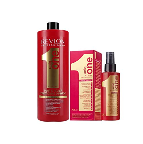 Pack Revlon Uniq One Champu 1000ml + Uniq One Tratamiento 150ml