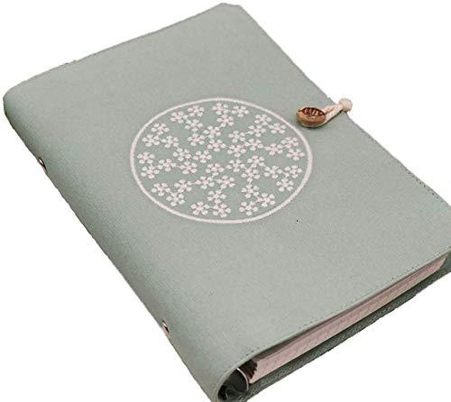Retro Fashion Nachfüllbare Spiralbindung Ringbuch Notizbuch Persönlicher Organizer mit Schnalle 6 Löcher Reise Labor Tagebuch Planer 167x228mm grün