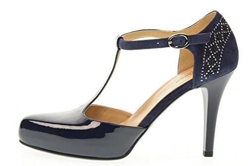 NERO GIARDINI scarpe donna decolletè allacciato P717360DE/208 Blu