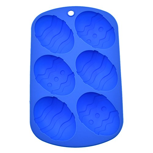 rm Silikonform Ausstechform für Muffins Brownies Party Eiswürfel DIY (Gummibärchen Eier)