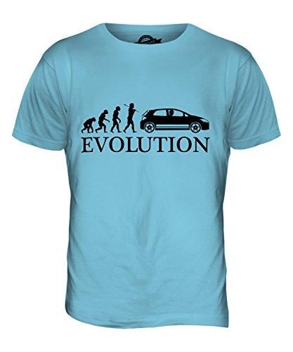 CandyMix Schrägheck Evolution Des Menschen Herren T Shirt Himmelblau