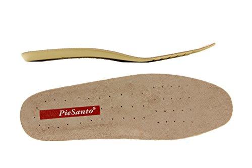 Scarpe donna comfort pelle Piesanto 4731 bassi soletta estraibile comfort larghezza speciale Taupe