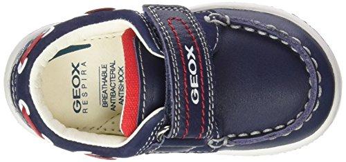 Geox B Flick Boy C, Scarpe Primi Passi Bimbo Multicolore (Multicolor (Navy / Red))