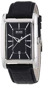 Hugo Boss - 1512619 - Montre Homme - Quartz Analogique - Cadran - Bracelet Cuir Noir