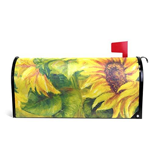 TIZORAX Briefkasten-Abdeckung, Sonnenblumen, magnetisch, für Standardgröße