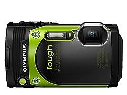 Olympus TG-870 Digitalkamera (16 Megapixel, BSI CMOS-Sensor, 7,6 cm (3 Zoll) TFT LCD-Display, 21 mm Weitwinkelobjektiv, 5-fach Zoom, WiFi, Full HD, wasserdicht bis 15 m) grün