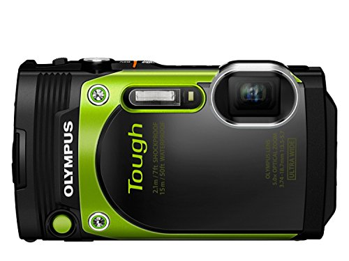 Olympus TG-870 Digitalkamera (16 Megapixel, BSI CMOS-Sensor, 7,6 cm (3 Zoll) TFT LCD-Display, 21 mm Weitwinkelobjektiv, 5-fach Zoom, WiFi, Full HD, wasserdicht bis 15 m) grün (Von Olympus Tg-820 Kamera)
