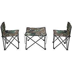 Alomejor Silla de Mesa de Camping aleación de Aluminio al Aire Libre Plegable directores Silla Ligera portátil de Pescado Camping Mesa de Asiento al Aire Libre
