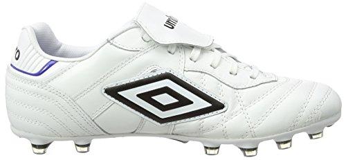 UmbroSpeciali Eternal Pro Hg - Scarpe da Calcio uomo Bianco (Daz-White/Black/Clematis Blue)