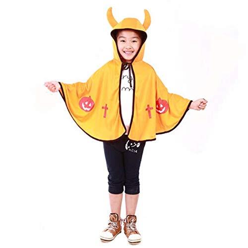 Tagether Kinder Hexe Umhang Mantel Halloween Kinder Umhang Maskerade Cos Requisiten Kleine Teufel Hörner Kleider