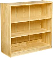 AmazonBasics Adjustable Wooden Bookshelf, 3 Sections