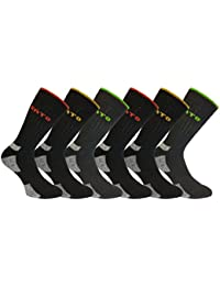 Mens 6 Pack KATO Warm Hard-Wearing Cushioned Support Winter Work Boot Socks