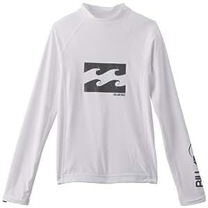 Billabong Wrap Rash T-Shirt lycra manches longues Garçon Blanc FR : 12 ans (Taille Fabricant : 12)