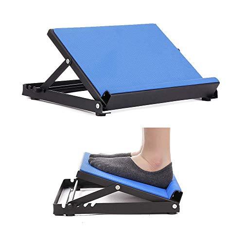 Camilla inclinada profesional tobillo camilla - tabla inclinable ajustable - diseño antideslizante - cuña elástica de 4 posiciones - equipo de fisioterapia,Blue