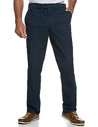 JP 1880 Herren große Größen bis 66 | Chino Hose | Stretch-Hose mit Minimalmuster | 4-Pocket-Schnitt | Gürtelschlaufen, Bundband & Reißverschluss | Regular Fit | navy 60 708300 70-60
