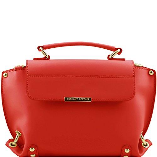 Tuscany Leather TL Bag - Sac à main en cuir Ruga et bandoulière amovible Jaune Sacs à main en cuir Rouge