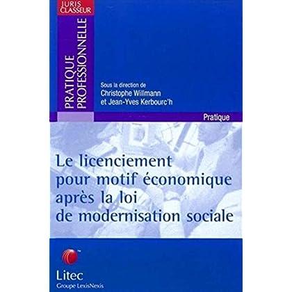 Le licenciement pour motif économique après la loi de modernisation sociale (ancienne édition)