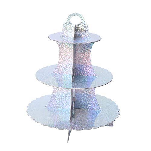 UPKOCH 3-stöckiger Cupcake-Ständer aus Pappe Dessertturm für Leckereien