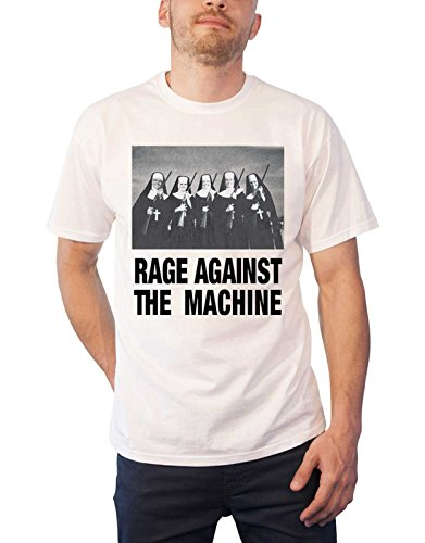 Unbekannt Rage Against The Machine T Shirt Nuns and Guns Band Logo Nue Offiziell Herren (Machine-patches Rage The Against)