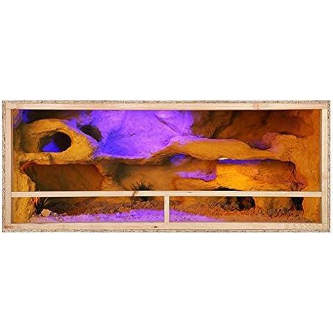 Terrario - Vivario de madera 150x80x80 cm - Barnizado - cómoda ventilación lateral - espesor del panel externo 12 mm