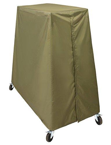 HOGAR AMO 210D Polysterfasern Tischtennisplatte Abdeckung Schutzhülle Wetterfest Tischtennis Abdeckhaube Ping Pong Tisch wasserdichte Plane (60