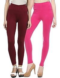 Sakhi Sang Legging Pack of 2 : Maroon & Fuchsia Pink