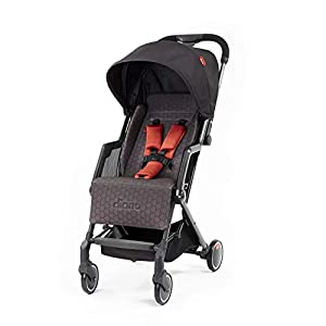 Diono Traverze Compact Luggage-Style Stroller, Charcoal Copper Hive   15