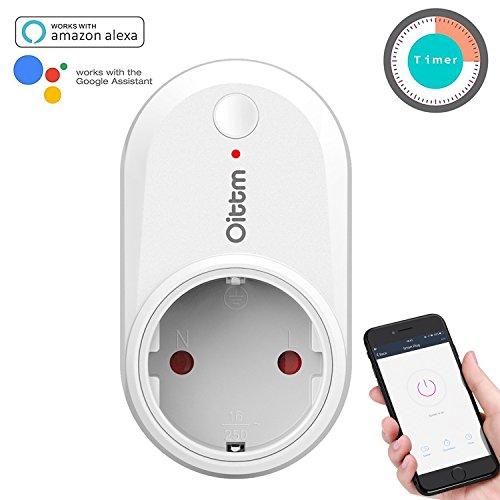 Oittm Smart Plug Funktioniert mit Alexa Smart Home Steckdose Funktioniert mit Google Home Wlan Steckdose mit App Steuerung Smart Steckdose mit Timer Funktion Intelligente Steckdose mit Gruppe Verwaltung