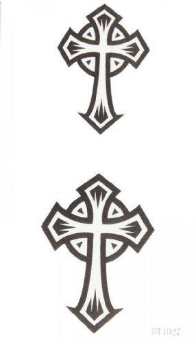Uomini e donne spestyle impermeabile tatuaggio temporaneo non tossico stickerswaterproof temperatura tatuaggi totem nero croce coppia tatuaggio