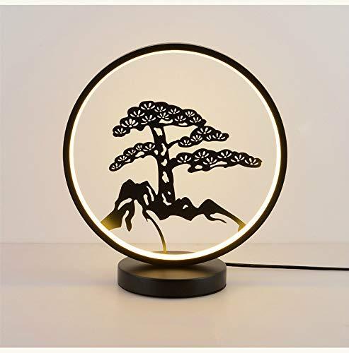 Lampe de table chinoise Lampe de chevet Étude zen moderne Salon tissu de style chinois Lampes de décoration créative (As shown4)