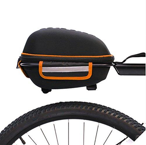 RUIX Fahrrad Tasche Tail Mountainbike Rear Bag Reitausrüstung Nach der Regaltasche Fahrrad Zubehör,Orange