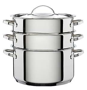 Hahn doppelt Dampfgarer couscousière mit Glas Deckel, 24