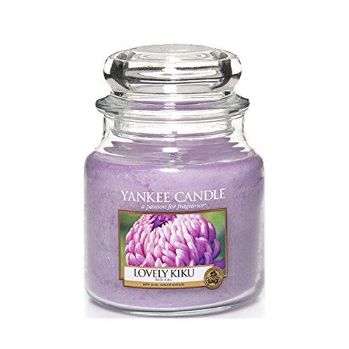 yankee-candle-1302659e-lovely-kiku-candele-in-giara-media-vetro-porpora-10x98x124-cm