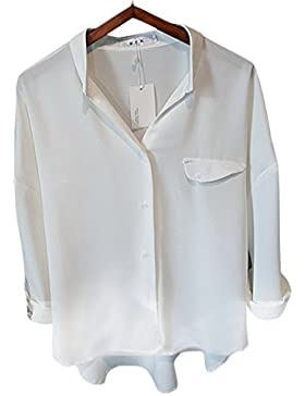 Honghu Blusa Camisa Camiseta Mujer Mangas Largas