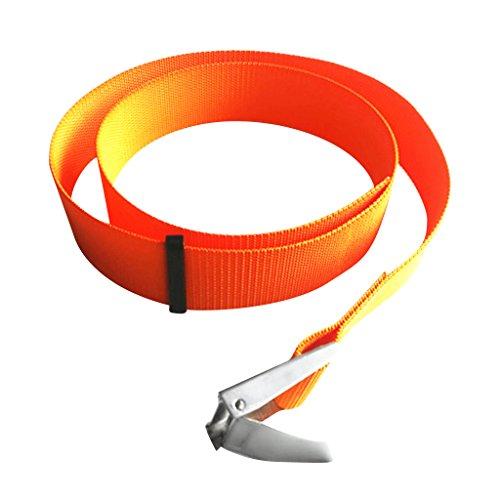 Sharplace Tauchgewichte Gürtel Bleigürtel Tauchgürtel Bleigurt 150cm, Orange - Orange mit Schnalle