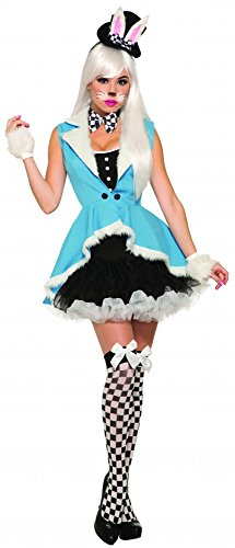 nny Bunny Alice im Wunderland Damen-Kostüm Gr. S/M Kleid Hut Hase Mr. Rabbit White Rabbit (White Rabbit Halloween-kostüme)
