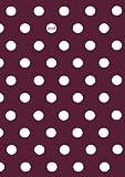 Kalender 2018 - DIN A5 -  Pünktchen Dot Punkt ... Brombeere mit weißen Punkten: Wochenkalender - DIN A5 - Eine Woche pro Doppelseite