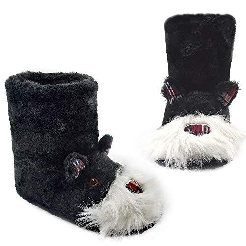 Gestrickte & Neuheit Booties Indoor & Outdoor Slipper Boot (36/37 EU, scotty Stiefel) -