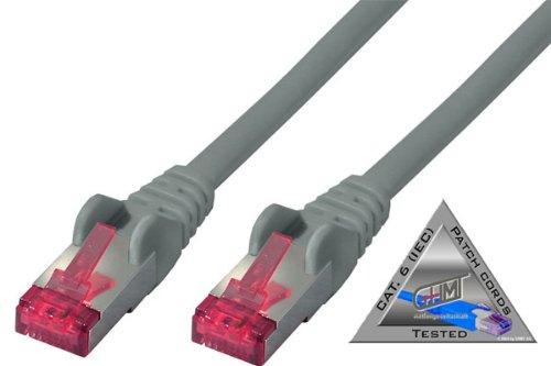 Preisvergleich Produktbild Netzwerkkabel-Patchkabel, cat 6A S/FTP PIMF Halogenfrei ZERTIFIZIERT 10,0m